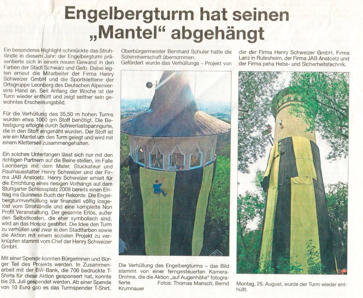 Clipping Amtsblatt Leonberg 28-8-2014