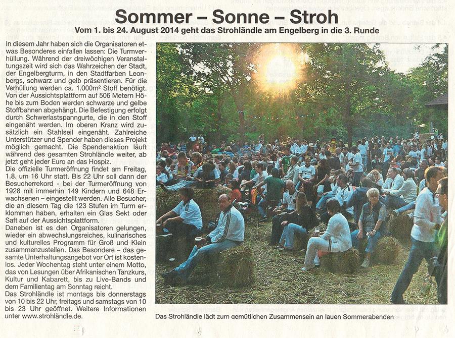 Clipping Amtsblatt Leonberg 31-7-2014