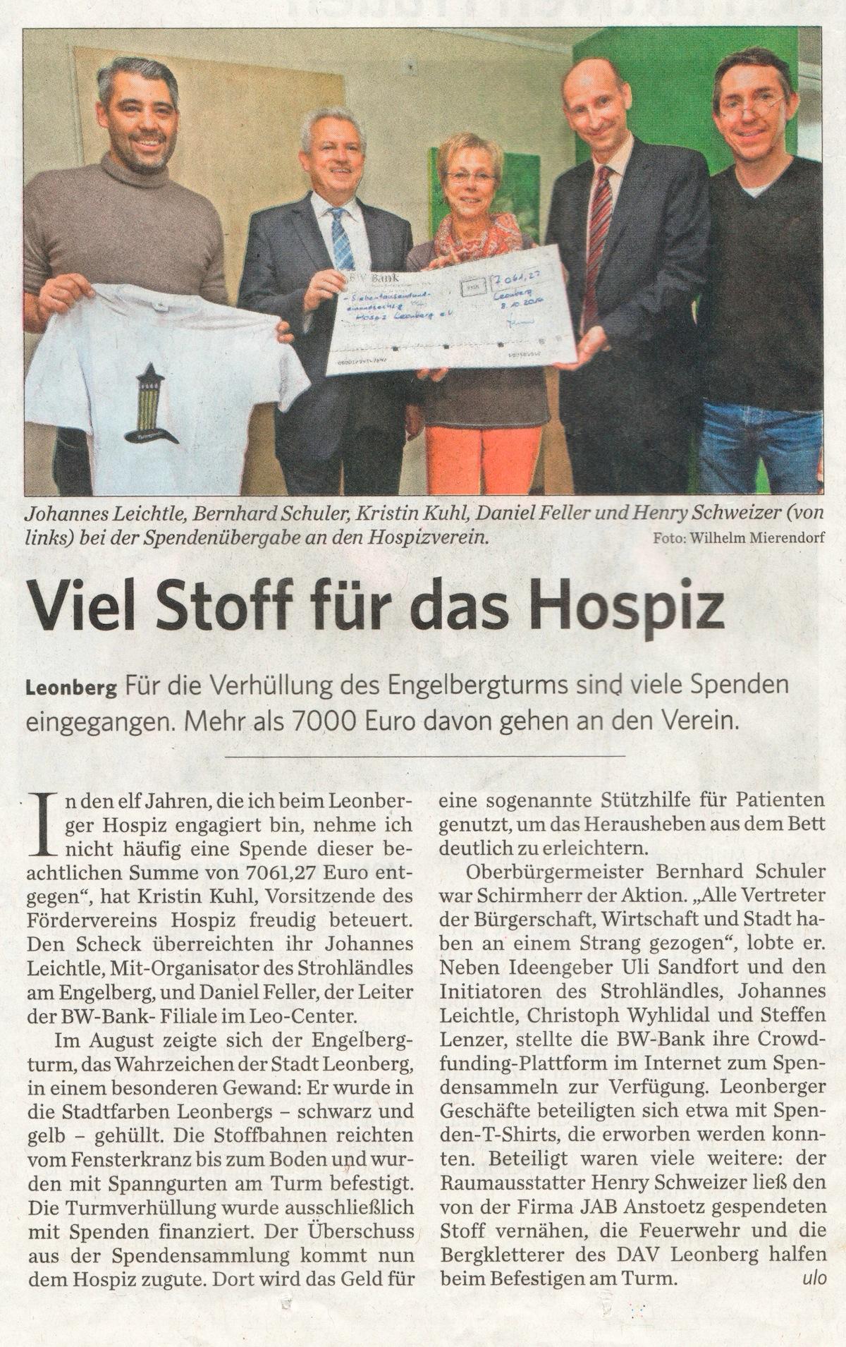 Clipping Leonberger Kreiszeitung 10-10-2014