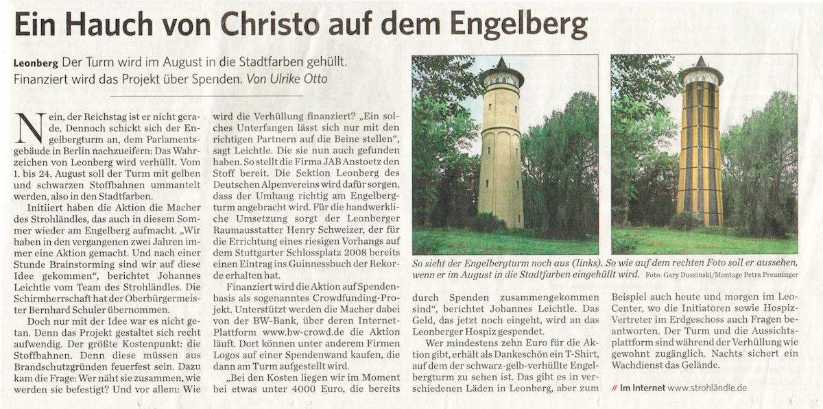 Clipping Leonberger Kreiszeitung 11-7-2014