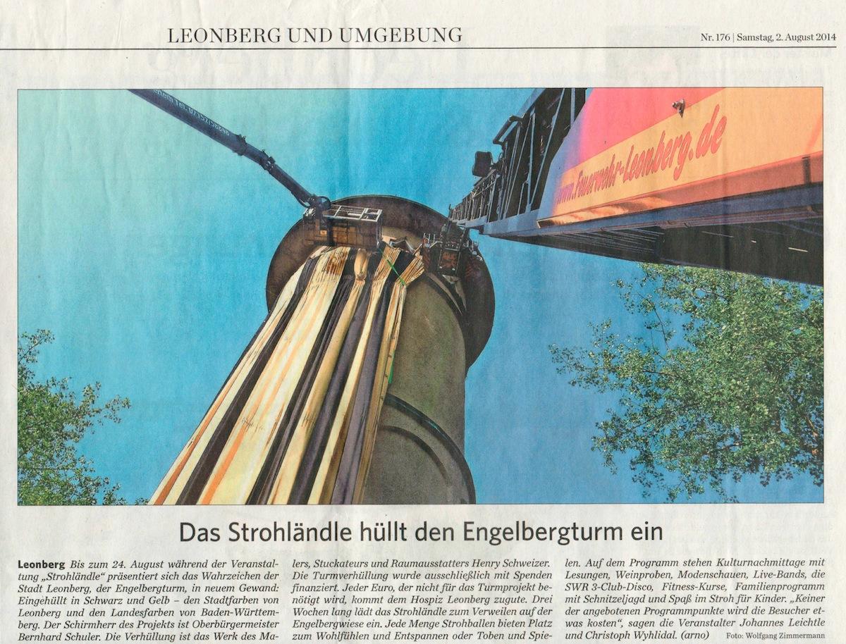 Clipping Leonberger Kreiszeitung 2-8-2014