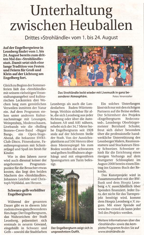 Clipping Stadtanzeiger 30-7-2014