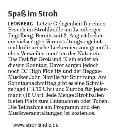 Clipping Stuttgarter Nachrichten 23-8-2013